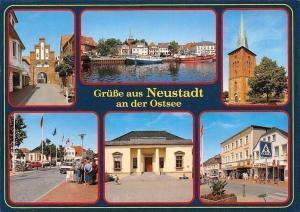 Gruesse aus Neustadt an der Ostsee, Kirche Church River Boats Bateaux