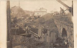 E82/ Hannibal Ohio RPPC Postcard 1915 Bridge Construction Occupational