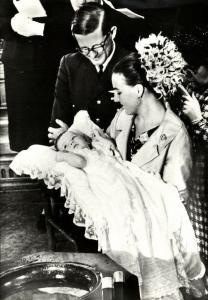 Dutch Princess Margriet and Pieter van Vollenhoven Baptism Prince Maurits (1968)