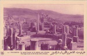 Morocco Volubilis Large Basin or House With Columns 1920s-30s