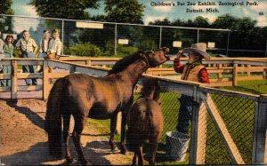 Michigan Detroit Zoological Park Children's Pet Zoo Exhibit