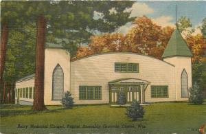 Chetek Wisconsin~Art Deco Barry Memorial Chapel~Baptist Assembly Grounds~1940s