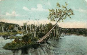 Songo River, Maine, ME, 1908 Undivided Back Antique Vintage Postcard e1192