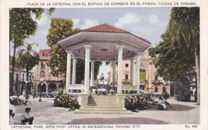 Cathedral Park, With Post Office In Background, PANAMA CITY, Panama, 1910-1920s