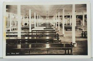 Farragut Naval Station RPPC Mess Hall c1940s Postcard P16