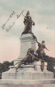 OTTAWA, Canada, PU-1907; Statue To Queen Victoria