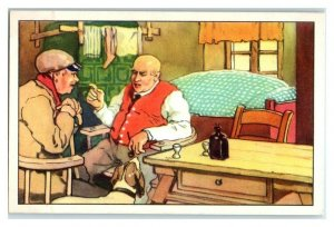 Farmer Refuses to Sell Pig, The Long Winter, Echte Wagner German Trade Card