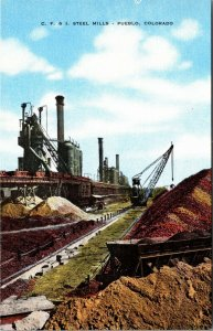 C.F. & I. Steel Mills, Pueblo, CO Postcard - VINTAGE - PC