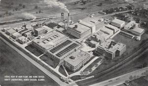 Chicago Illinois~Abbot Laboratories~Aerial View~Factory & Main Office~1950s B&W