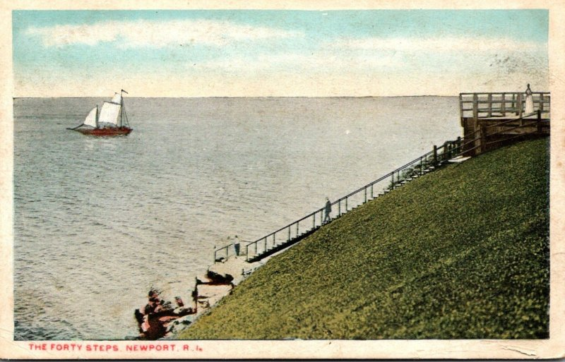Rhode Island Newport The Forty Steps