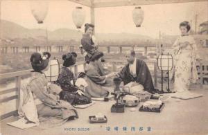 Kyoto Japan Kyoto Suszmi Geisha Entertaining  Antique Postcard J77792