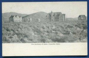 Pocatello Idaho id Academy of Idaho undivided back old postcard