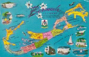 Map Of The Bermuda Islands 1960