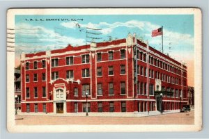 Granite City IL-Illinois, Y.M.C.A. Building, Vintage c1931 Postcard