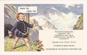 Kentucky Postcard Club Show 1987 Louisville Kentucky
