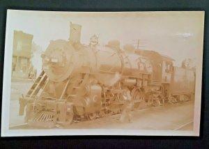 Mint Vintage Atlantic Coast Railroad Line #1045 Real Photo Postcard