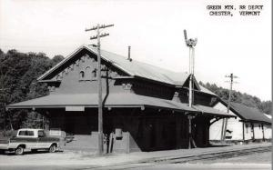 Chester Vermont Green Mountain train depot real photo pc Z30274