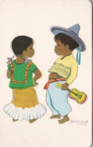 Mexico Children In Typical Costume