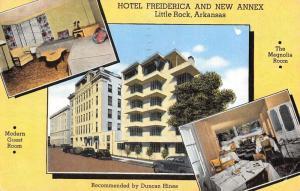 Little Rock Arkansas Hotel Freiderica Multiview Antique Postcard K35942