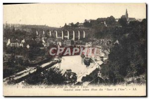 Old Postcard Dinan General View from Saut ane