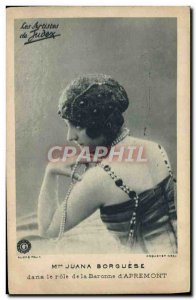 Postcard Modern Cinema Mrs. Juana Borghese in the role of the Baroness d & # ...