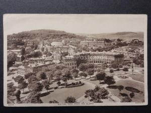 Derbyshire: Buxton View from the Slopes - Old Postcard