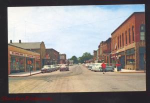 WATERVILLE MINNESOTA DOWNTOWN MAIN STREET SCENE 1950;s CARS OLD POSTCARD