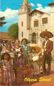 Olvera Street, Los Angeles, California unused Postcard