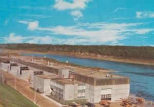 Saskatchewan Squaw Rapids Hydro River System Power Company Canada Postcard