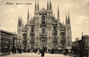 CPA AK MILANO Duomo e Piazza ITALY (498554)