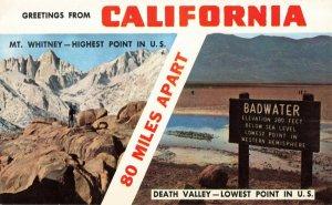 Postcard Greetings from California