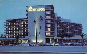 Beverly Hills California 1958 Postcard The Beverly Hilton Hotel