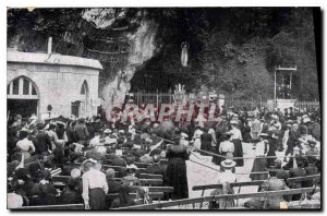 Old Postcard Lourdes Grotto