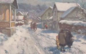 Norway , 00-10s ; Village Street in Winter