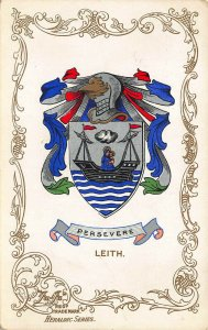 Persevere Leith Coat of Arms Heraldic Series Postcard