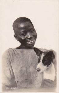 Nigeria lagos Chums Young Boy With Dog Photo
