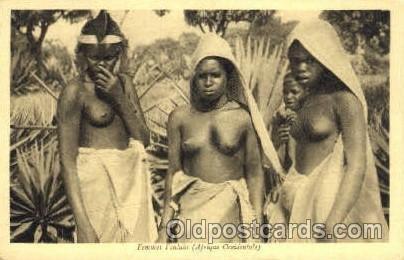 Femmes Foulahs African Nude Unused