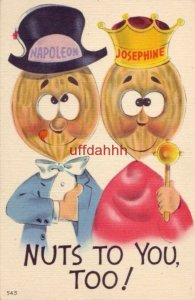 NUTS TO YOU, TOO! peanut characters as Napolean and Josephine Metrocraft