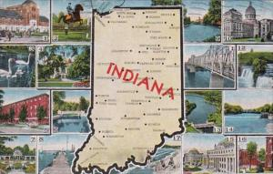 Map Of Indiana 1950