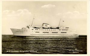 M/S Princessan Margaretha, Goteborg - RPPC