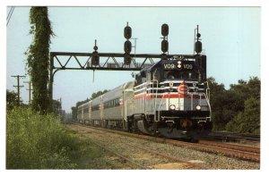 Virginia Railway Express Commuter Train, Crystal City, Virginia, 1992