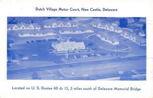 New Castle Delaware Dutch Village Motor Court Vintage Postcard K20249