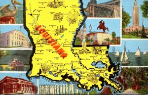 Louisiana Map With Multi VIews