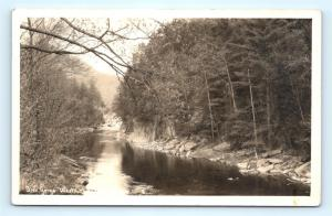 Postcard MA West Chesterfield The Gorge River View RPPC Real Photo A36