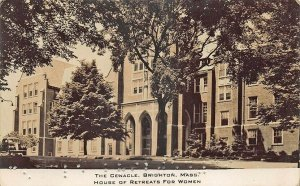 Brighton MA House of Retreats For Women Braille? Real Photo Postcard