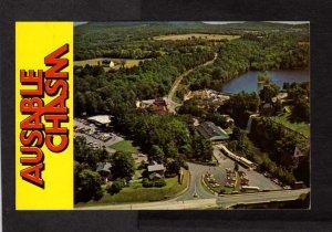 NY Ausable Chasm Caves Caverns Rainbow Falls Car Museum Postcard