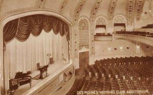LP87 Des Moines  Iowa Postcard Woman's Club Auditorium