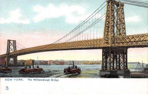 The Williamsburgh Bridge, New York City, N.Y., Early Postcard, Unused
