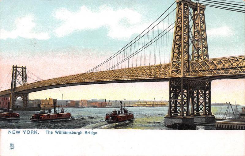 The Williamsburgh Bridge, New York City, N.Y., Early Postcard, Unused