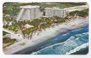 Mexico Hotel Acapulco Princess Aerial View Vtg Postcard